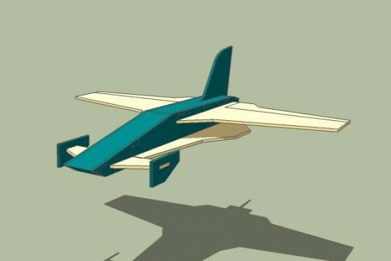 Laser Cut Toy Airplane Model Free Vector