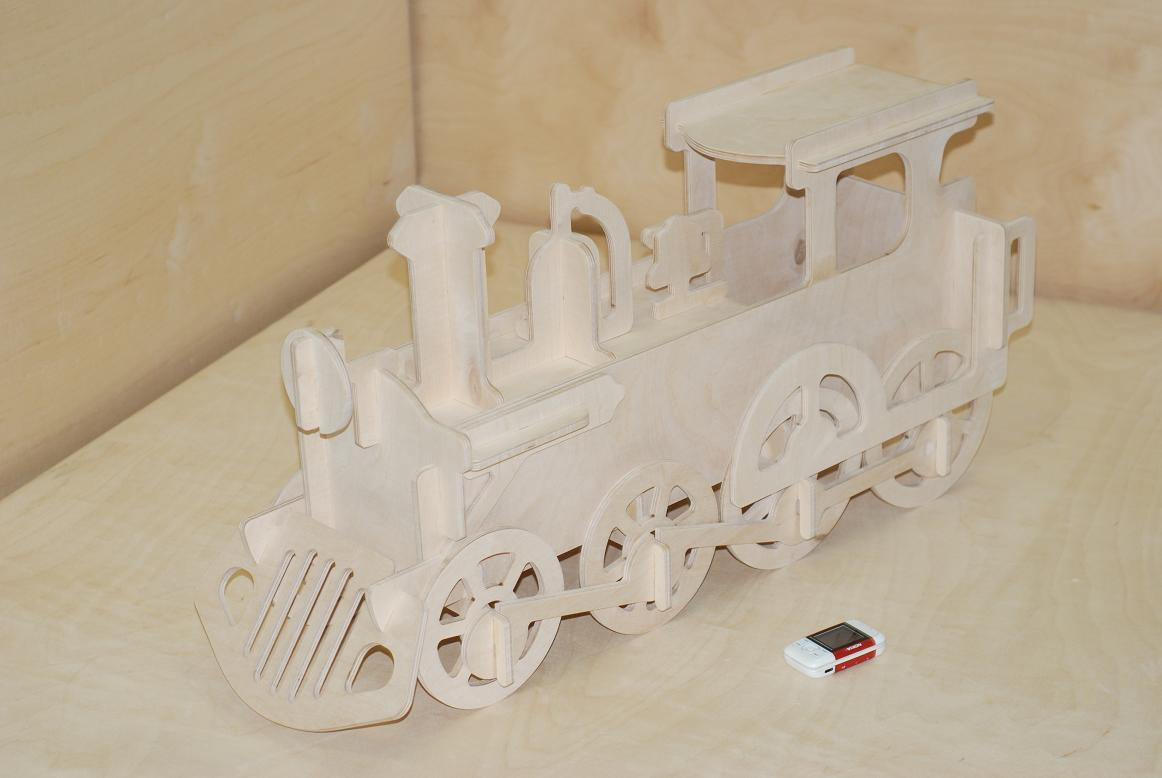 Lokomotive фанера 10мм dxf file