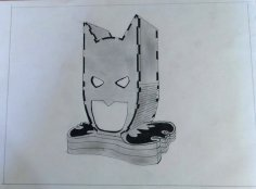 Laser Cut Batman Head Lamp Night Light DXF File