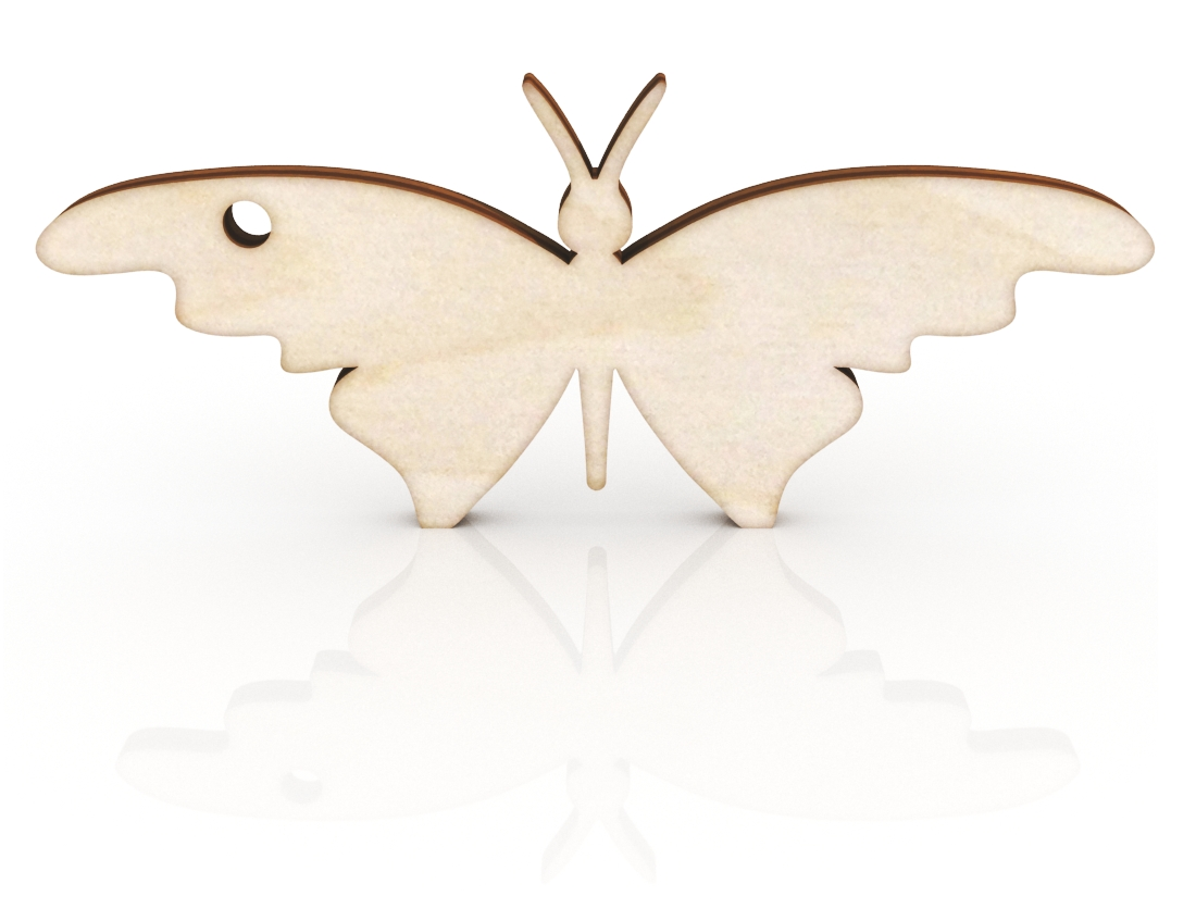 Laser Cut Butterfly Keychain Free Vector