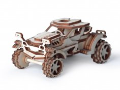 Laser Cut Scorpio Wooden Toy Car Model Free Vector