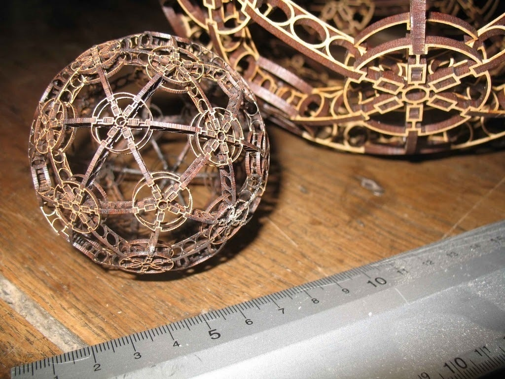 Laser Cut Eiffel Style Sphere 3mm DXF File