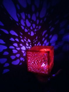 Laser Cut Cube Heart Night Light DXF File