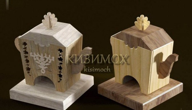 Laser Cut Tea House Template Free Vector