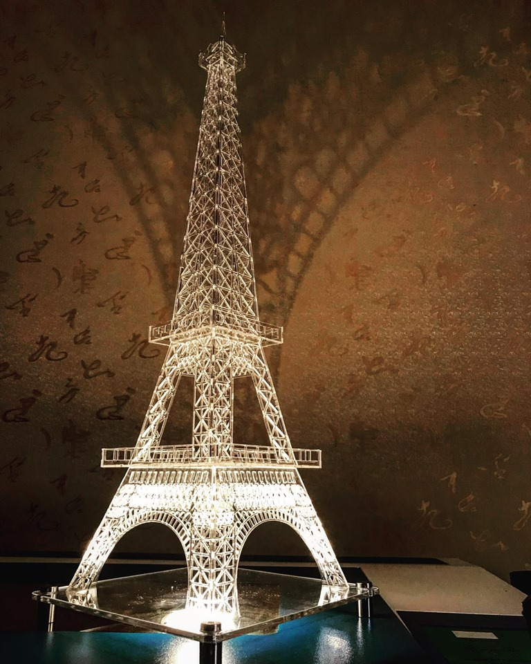 Laser Cut Eiffel Tower Template in 5 sizes Free Vector