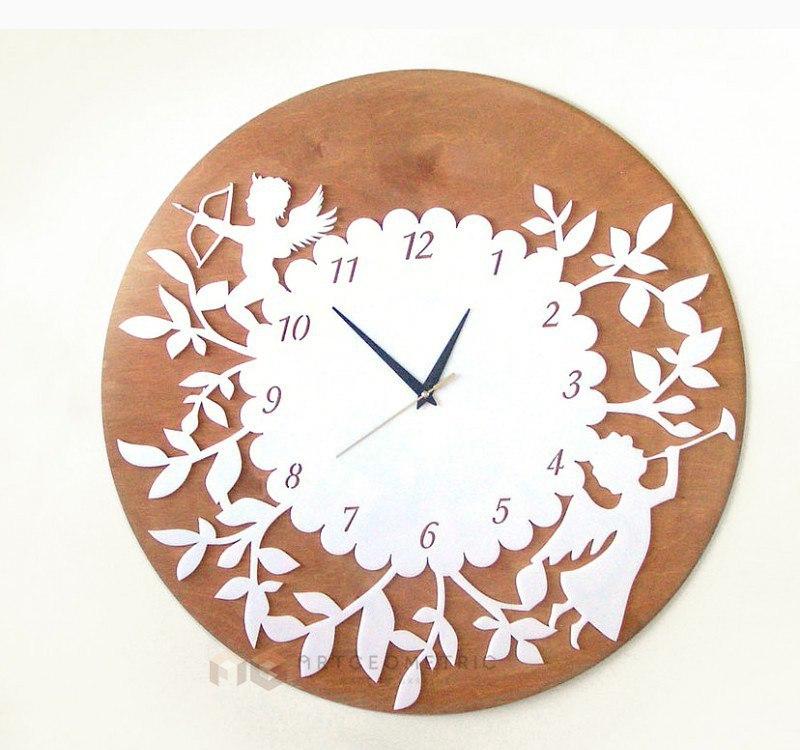 Laser Cut Decor Wall Clock Free Vector