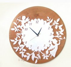 Laser Cut Decor Wall Clock Free Vector