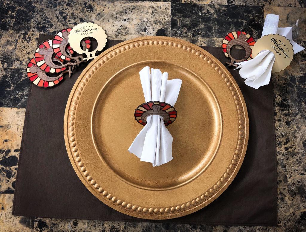 Laser Cut Thanksgiving Napkin Rings PDF File
