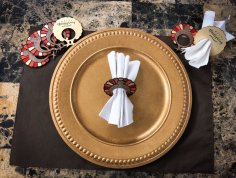 Laser Cut Thanksgiving Napkin Rings PDF File