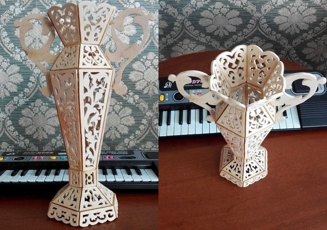 Laser Cut Vase Template Free Vector