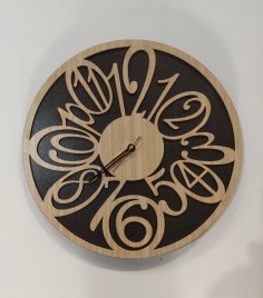 Laser Cut Cool And Unique Wall Clock Free Vector