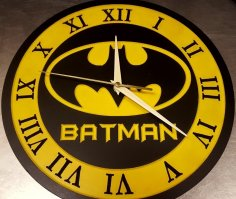 Laser Cut Batman Clock 12 Inch DXF File