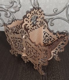 Laser Cut Wooden Candy Basket DXF File
