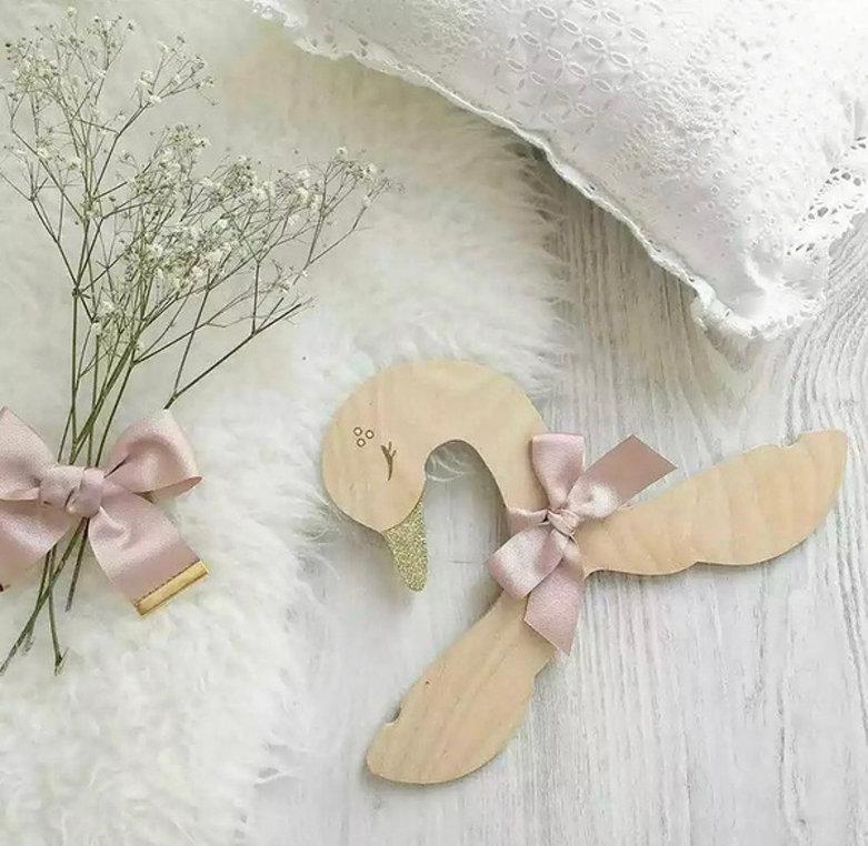 Laser Cut Swan Clothes Hanger Baby Kids Hanger Free Vector