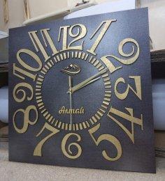 Laser Cut Classic Wall Clock Free Vector