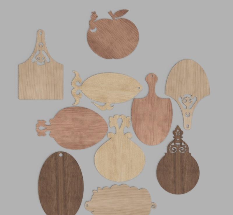 Laser Cut Wooden Cutting Board Designs Free Vector