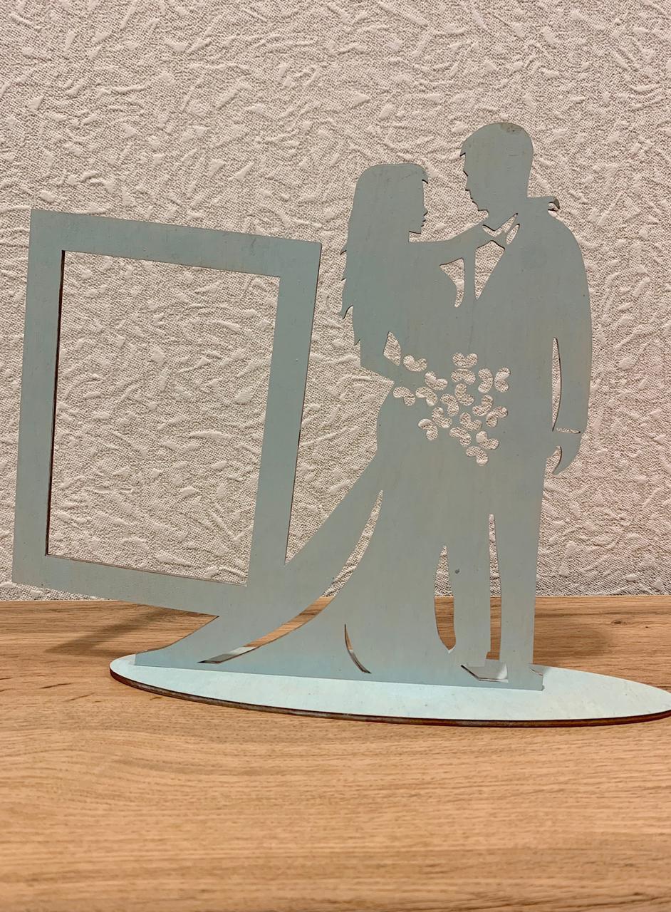 Laser Cut Wedding Bride Groom Photo Frame Free Vector