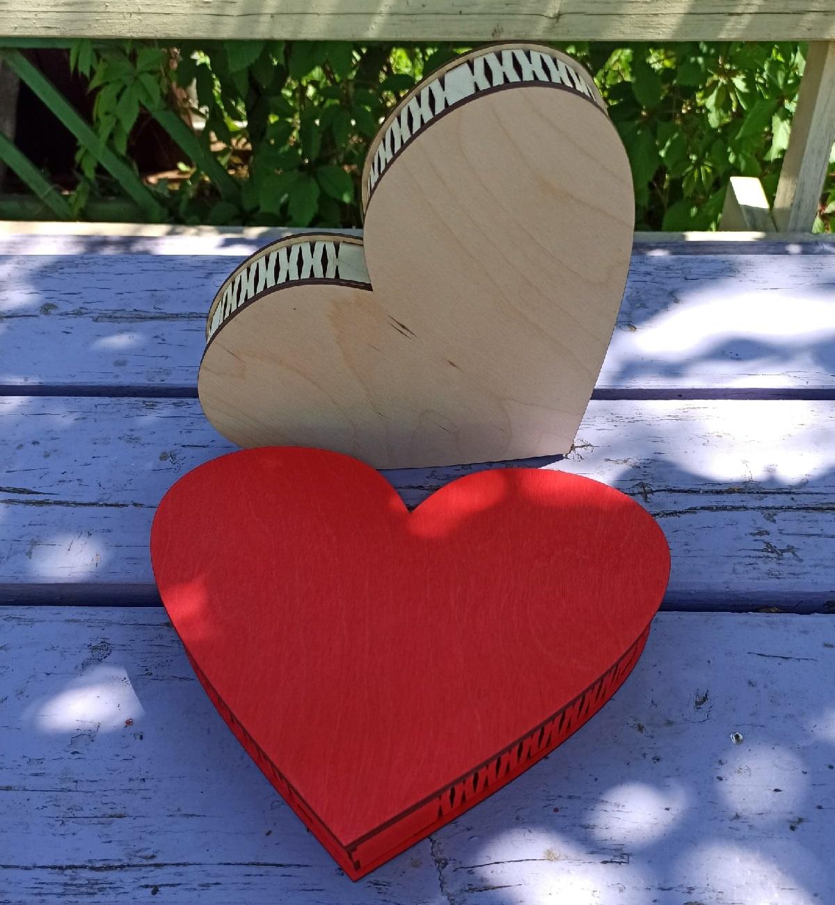 Laser Cut Love Box Heart Shaped Chocolate Box Free Vector