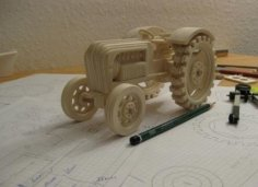Laser Cut Tractor 4mm Free Vector