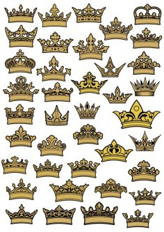 Crown Vector Art Free Vector