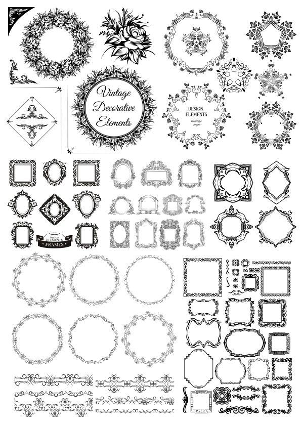 Vintage Decorative Elements Free Vector
