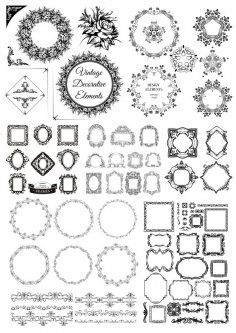 Vintage Decorative Elements Free Vector
