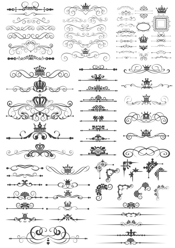 Royal Crown Border Art Vectors Free Vector