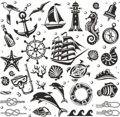 Nautical Set Free Vector