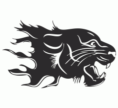 Panther Sticker Free Vector