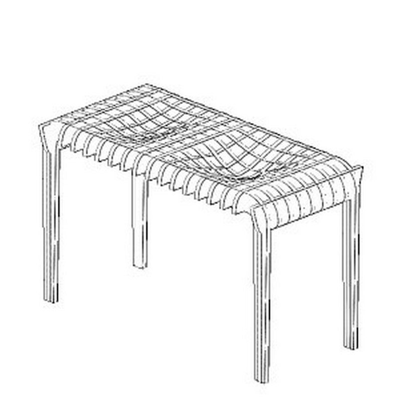 Modern Decor Table DXF File