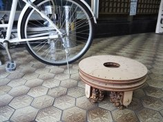 Laser Cut Wheel Stool DXF File