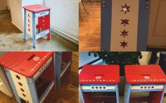 Chicago-styled Stool Laser Cut CNC Router Plans Free Vector