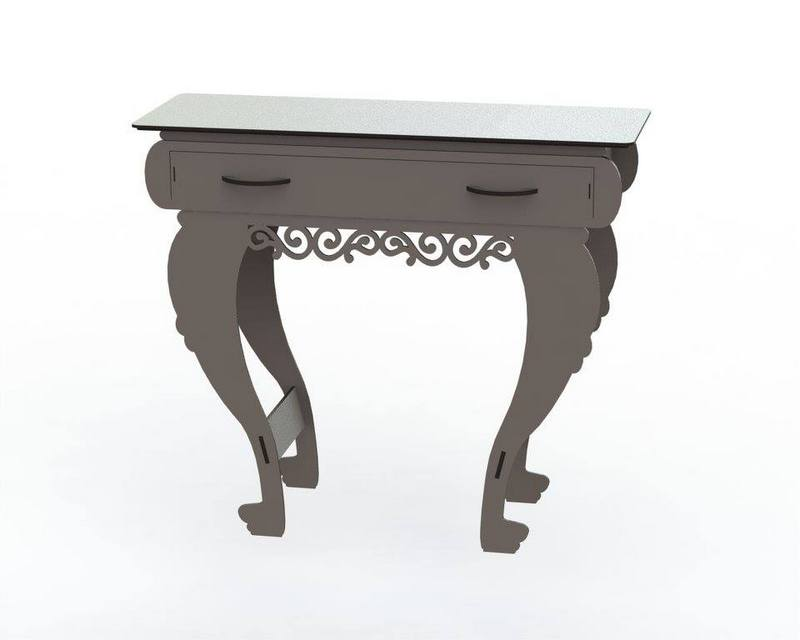 Wooden End Table with Drawers DXF File