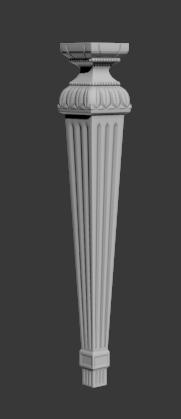 Furniture Table Chair Leg 3D Model stl File