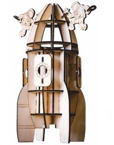 Laser Cut Rocket Model Beer Holder Free Vector