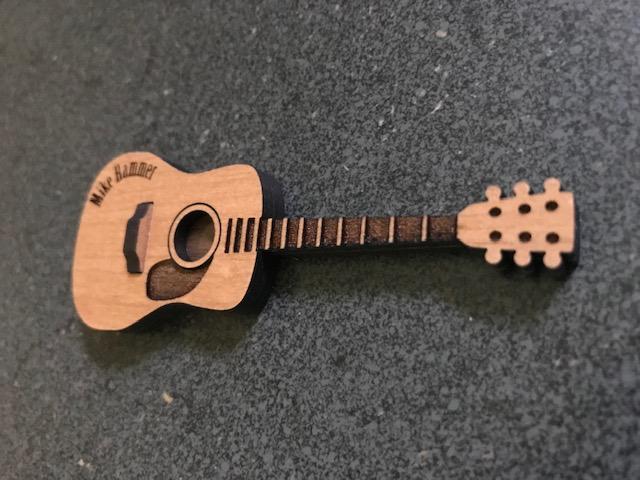 Laser Cut Acoustic Guitar SVG File