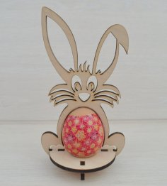 Laser Cut Easter Bunny Template 4mm Free Vector