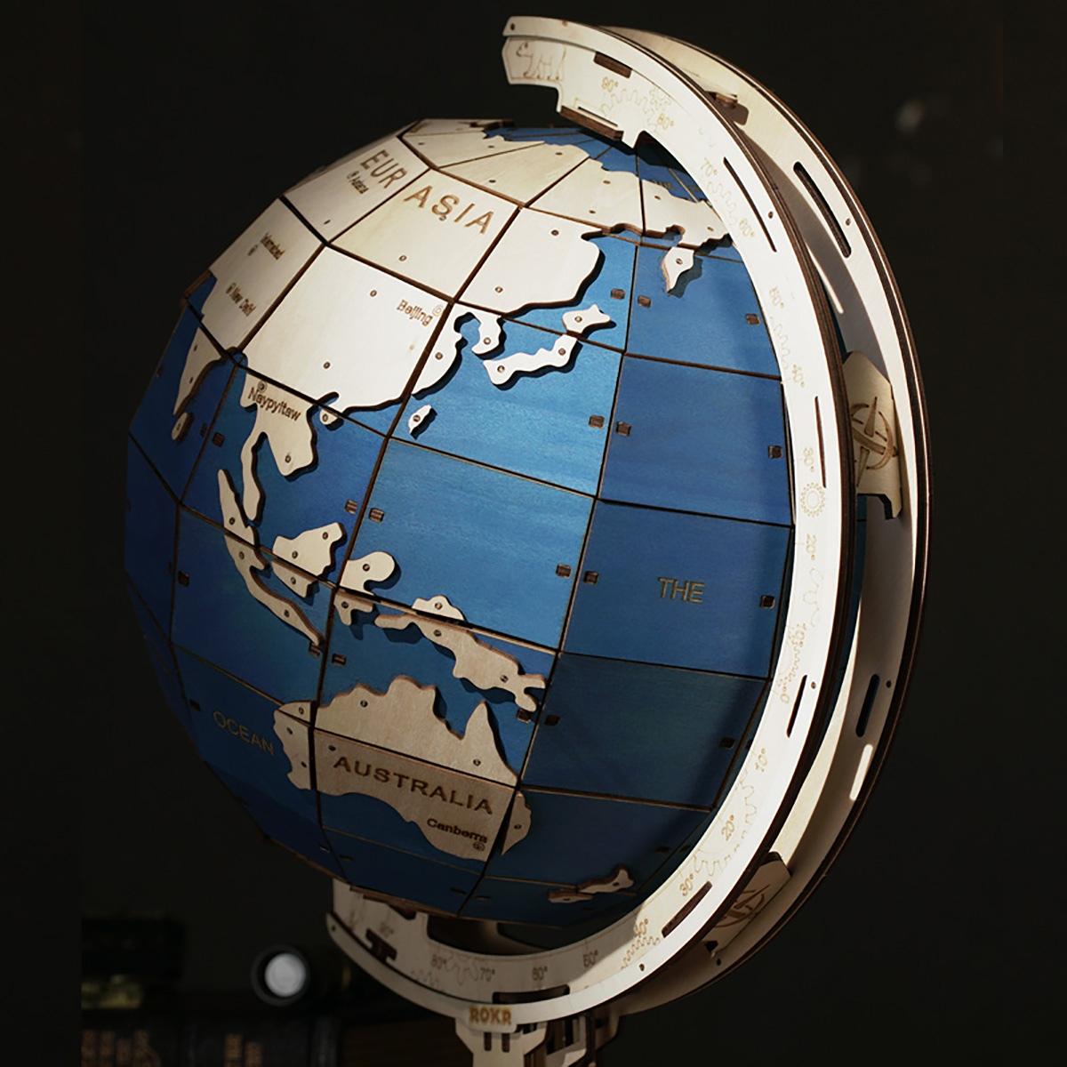 Laser Cut Globe Jewelry Box Free Vector