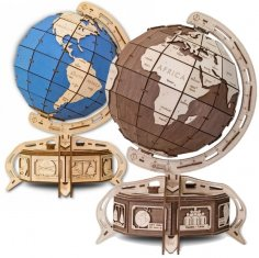 Laser Cut Globe Jewelry Box Free Vector