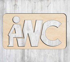 Laser Cut Wooden WC Sign Creative Toilet Sign Free Vector