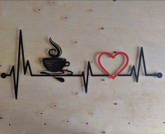 Laser Cut Coffee Cardio Wall Decor Free Vector