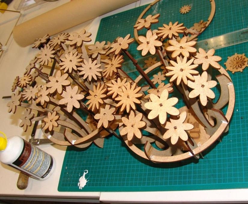 Laser Cut Table Flower Decoration Home Decor DXF File