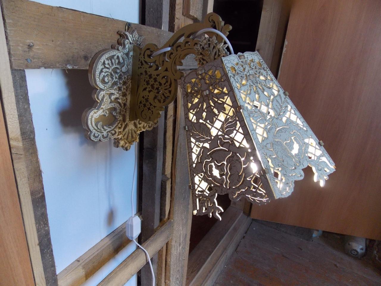 Laser Cut Wooden Decorative Lamp PDF File