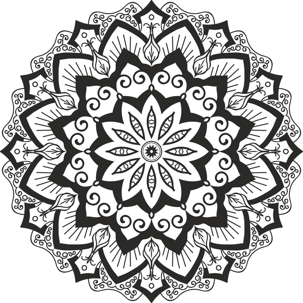 Mandala Cut Design Free Vector