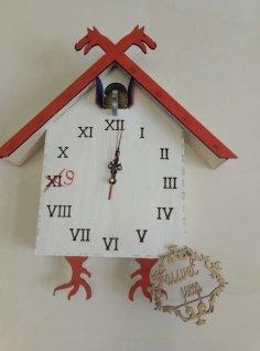 Laser Cut Cuckoo Clock Free Vector