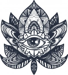 Eye Lotus Tattoo Free Vector