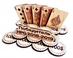 Laser Cut Poker Chips Free Vector