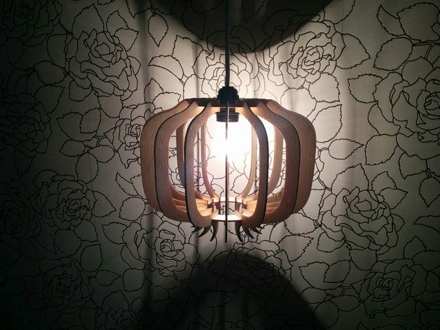 Laser Cut Lamp Pomegranate Free Vector