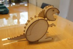 Laser Cut Wooden Box Dinosaur Template SVG File