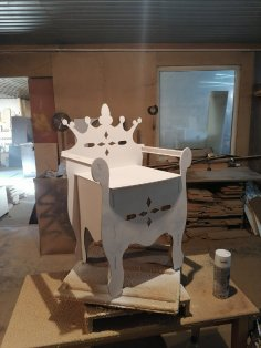 Laser Cut Kids Throne Chair Plywood 6mm Free Vector